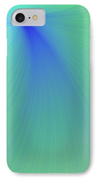 Blue And Green Abstract Phone Case by Paul Sale Vern Hoffman