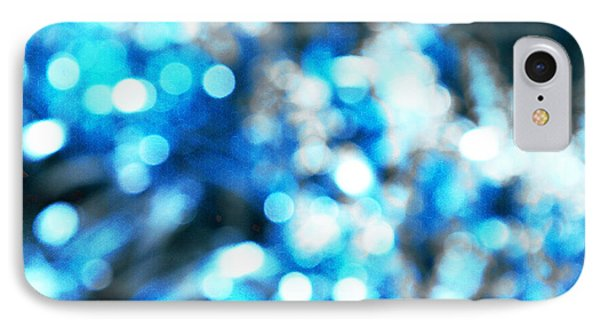 IPhone Case featuring the digital art Blue And White Bokeh by Fine Art By Andrew David