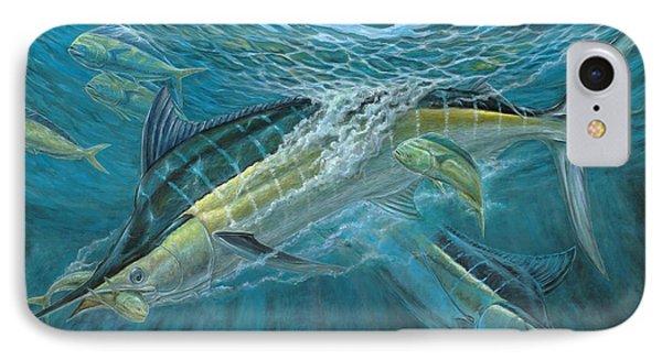 Blue And Mahi Mahi Underwater Phone Case by Terry Fox