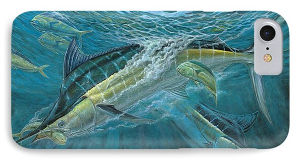 Blue And Mahi Mahi Underwater IPhone Case