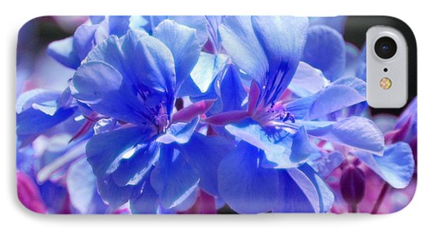 Blue And Purple Flowers IPhone Case by Matt Harang