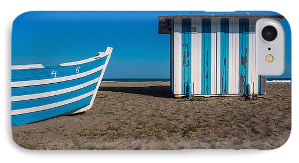 Blue And Sand IPhone Case by Piet Scholten
