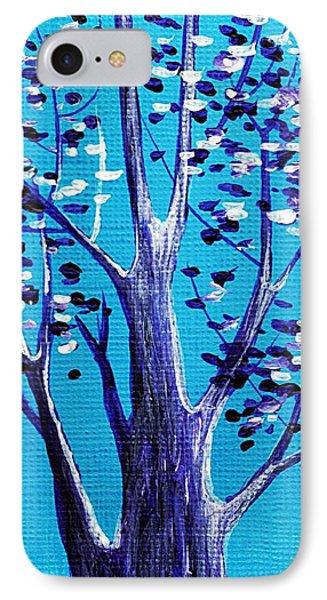 Blue And White Phone Case by Anastasiya Malakhova