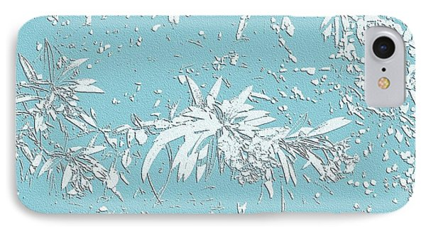 Blue And White Leaves IPhone Case by Ellen O'Reilly