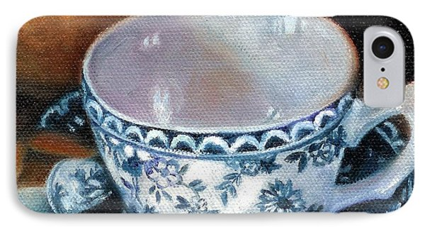 Blue And White Teacup With Spoon IPhone Case