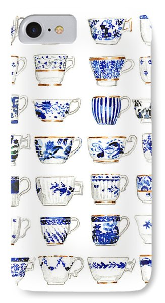 Blue And White Teacups Collage IPhone Case