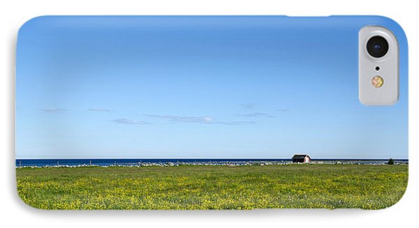IPhone Case featuring the photograph Blue And Yellow Landscape by Kennerth and Birgitta Kullman