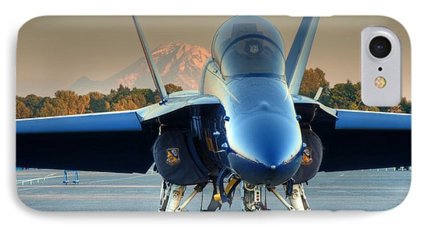 IPhone Case featuring the photograph Blue Angel At Sunset by Jeff Cook