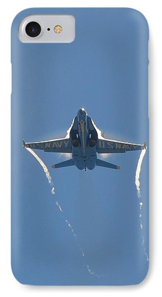 IPhone Case featuring the photograph Blue Angels Ghost Appears Head-on Over Pensacola Beach by Jeff at JSJ Photography