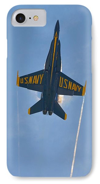 IPhone Case featuring the photograph Blue Angels Ghost Appears Over Pensacola Beach by Jeff at JSJ Photography