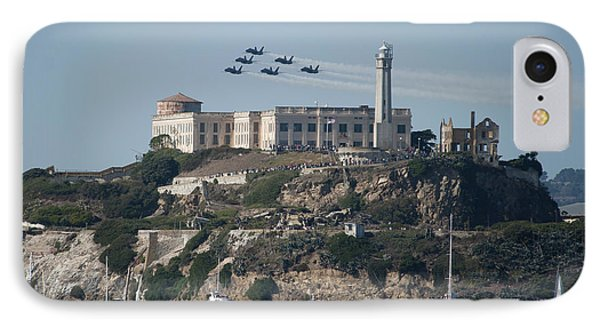 Blue Angels Over Alcatraz IPhone Case by Mountain Dreams