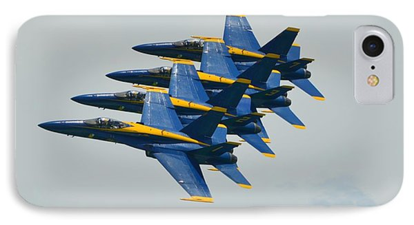 IPhone Case featuring the photograph Blue Angels Practice Echelon Formation by Jeff at JSJ Photography