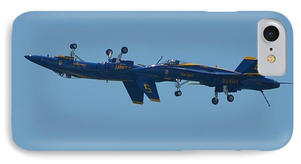 IPhone Case featuring the photograph Blue Angels Practice Up And Down With Low And Slow by Jeff at JSJ Photography