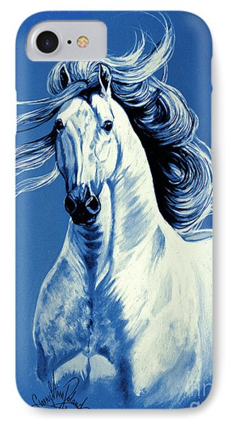 Blue Attitude IPhone Case by Cheryl Poland