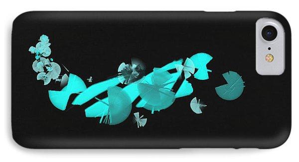 Blue Autumn Twist IPhone Case