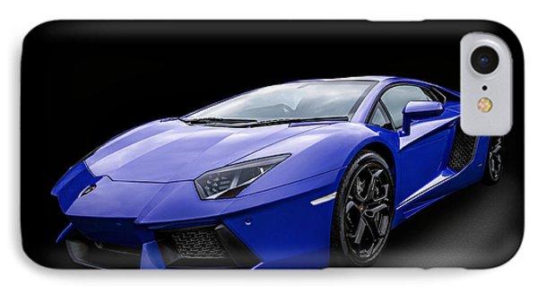 Blue Aventador IPhone Case by Matt Malloy