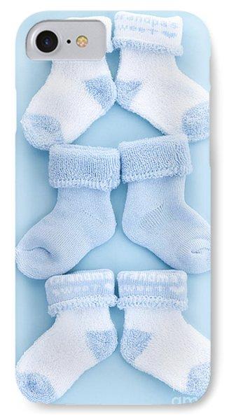 Blue Baby Socks Phone Case by Elena Elisseeva