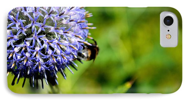 IPhone Case featuring the photograph Blue Ball Flower by Scott Lyons