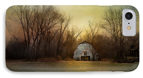 Blue Barn At Sunrise IPhone Case by Jai Johnson