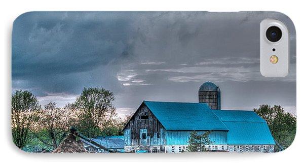 Blue Barn IPhone Case by Bianca Nadeau