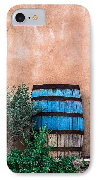 Blue Barrel With Adobe IPhone Case by Steven Bateson