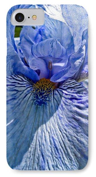 Blue Bearded Iris IPhone Case