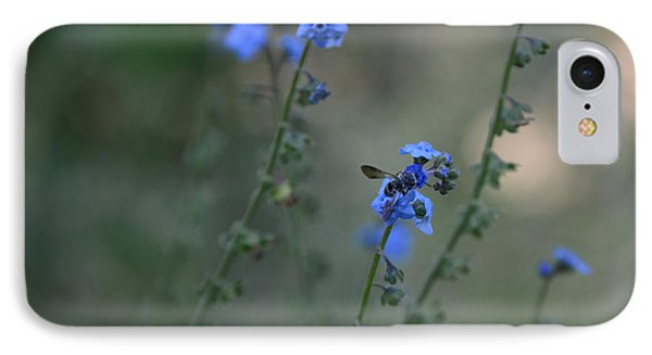 Blue Bee IPhone Case by Tamera James