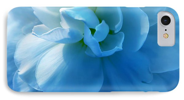 Blue Begonia Flower Phone Case by Jennie Marie Schell