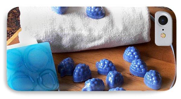 Blue Berries Mini Soaps IPhone Case by Anastasiya Malakhova