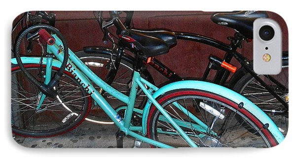 IPhone Case featuring the photograph Blue Bianchi Bike by Joan Reese