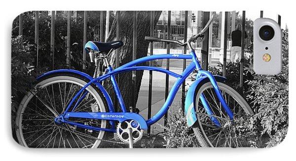 Blue Bike IPhone Case by Alex King