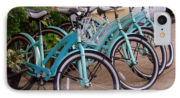 IPhone Case featuring the photograph Blue Bikes by Rodney Lee Williams