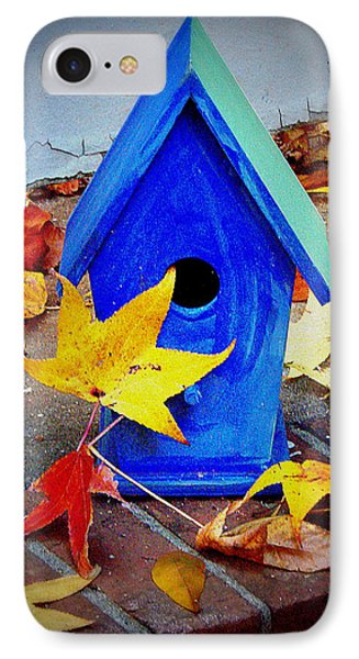 IPhone Case featuring the photograph Blue Bird House by Rodney Lee Williams