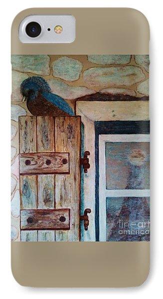 IPhone Case featuring the painting Blue Bird by Jasna Gopic