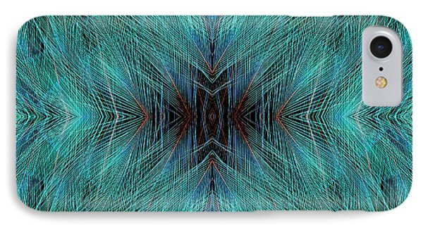Blue, Bird Of Paradise Feathers IPhone Case by Darrell Gulin