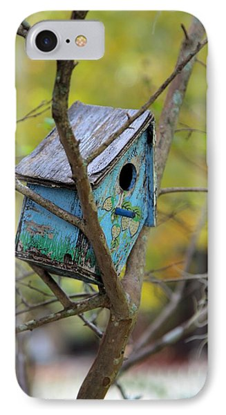 IPhone Case featuring the photograph Blue Birdhouse by Gordon Elwell