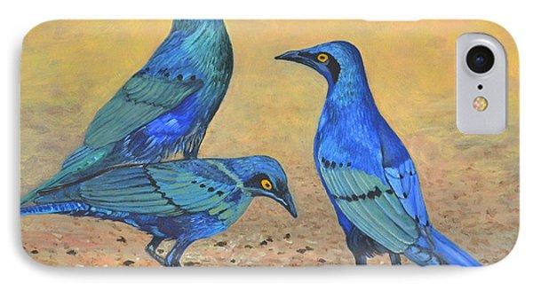 Blue Birds Of Happiness IPhone Case by Caroline Street