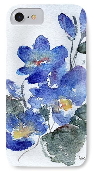 IPhone Case featuring the painting Blue Blooms by Anne Duke