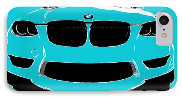 Blue Bmw IPhone Case by J Anthony