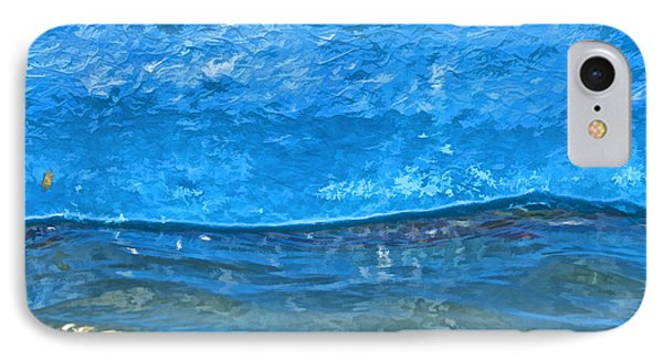 Blue Boat Abstract Phone Case by David Letts