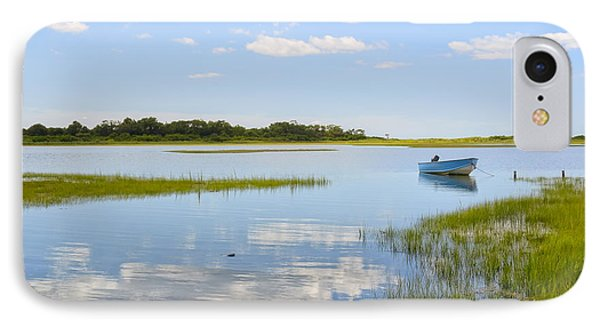 Blue Boat In The Backwaters IPhone Case