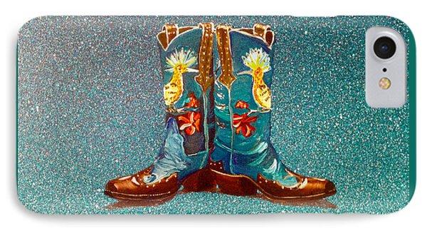 Blue Boots IPhone Case by Mayhem Mediums