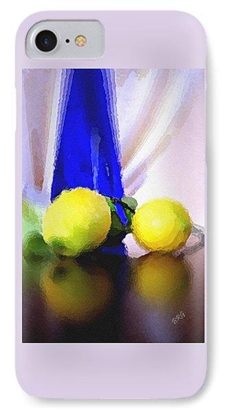 Blue Bottle And Lemons Phone Case by Ben and Raisa Gertsberg