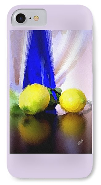Blue Bottle And Lemons IPhone Case by Ben and Raisa Gertsberg