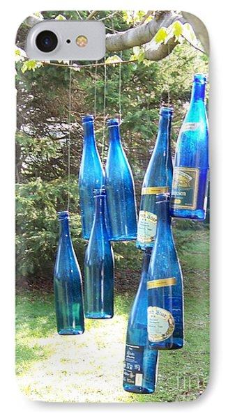 Blue Bottle Tree IPhone Case by Jackie Mueller-Jones
