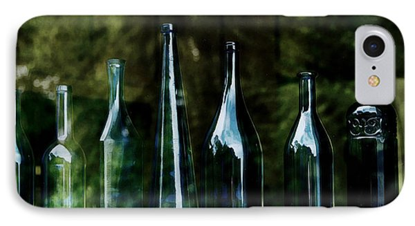 Blue Bottles On A Windowsill IPhone Case