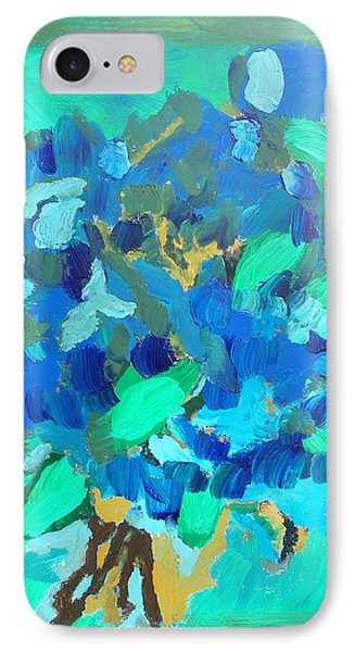 Blue Bouquet IPhone Case by Harry Hartshorne Jr