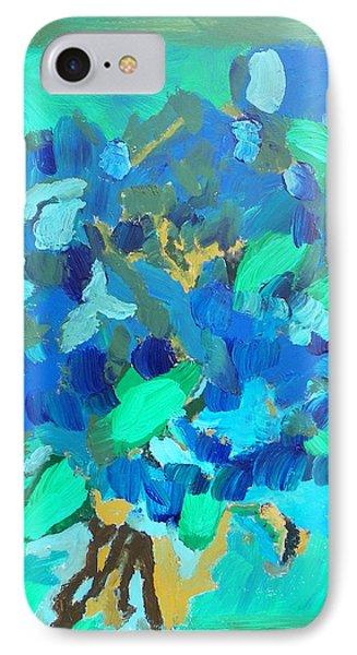 Blue Bouquet IPhone Case