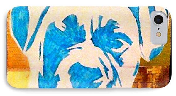 Blue Boxer Phone Case by Ashley Reign