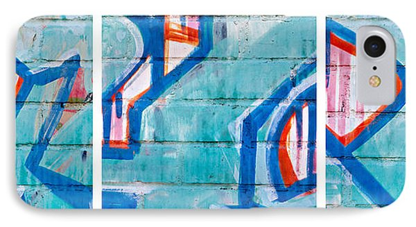 Blue Brick Graffiti Phone Case by Art Block Collections